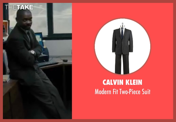Calvin Klein gray suit from Interstellar seen with David Oyelowo