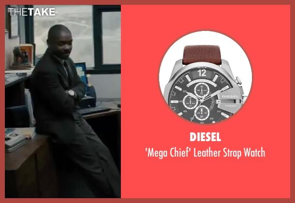 Diesel silver watch from Interstellar seen with David Oyelowo