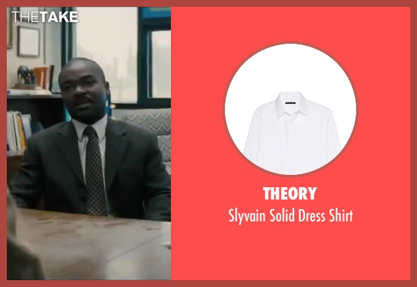 Theory white shirt from Interstellar seen with David Oyelowo