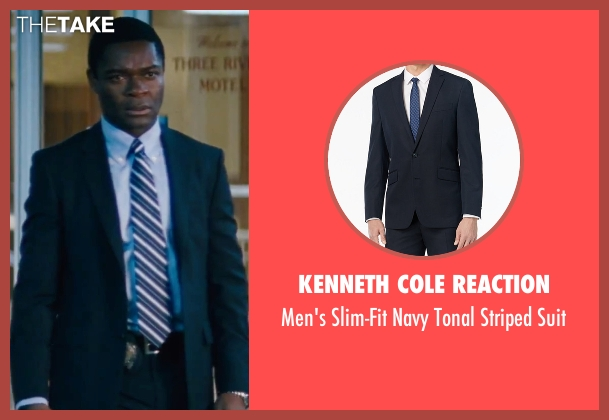 Kenneth Cole Reaction blue suit from Jack Reacher seen with David Oyelowo (Emerson)