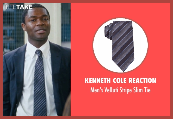 Kenneth Cole Reaction gray tie from Jack Reacher seen with David Oyelowo (Emerson)