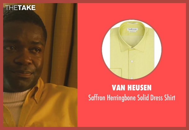 Van Heusen yellow shirt from Lee Daniels' The Butler seen with David Oyelowo (Louis Gaines)