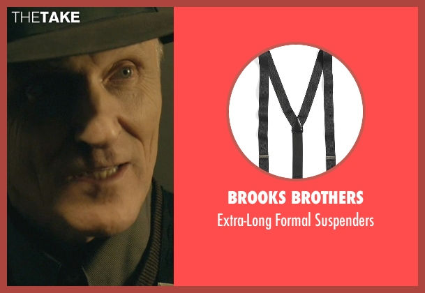 Brooks Brothers black suspenders from John Wick seen with David Patrick Kelly (Charlie)