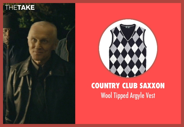 Country Club Saxxon gray vest from John Wick seen with David Patrick Kelly (Charlie)