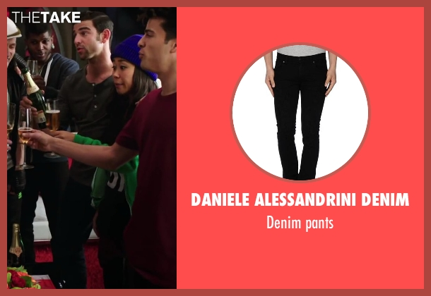 Daniele Alessandrini Denim black pants from Step Up: All In seen with David Shreibman (Chad)