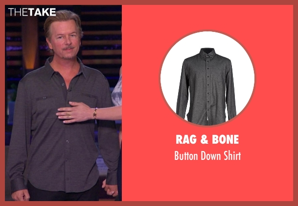 Rag & Bone gray shirt from Chelsea seen with David Spade