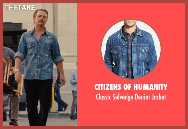 Citizens of Humanity blue jacket from Entourage seen with David Spade (Unknown Character)