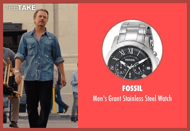 Fossil silver watch from Entourage seen with David Spade (Unknown Character)