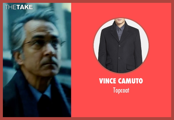 Vince Camuto black topcoat from The Bourne Ultimatum seen with David Strathairn (Noah Vosen)