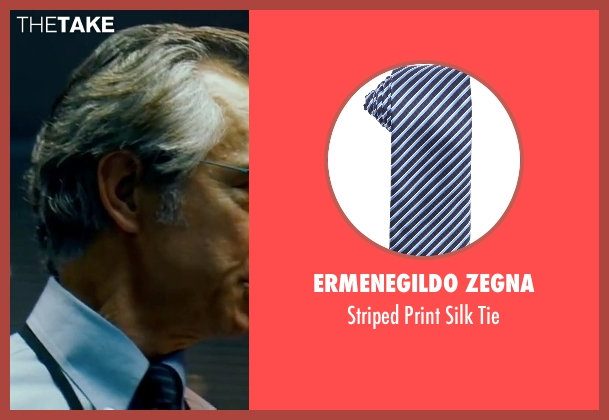Ermenegildo Zegna blue tie from The Bourne Ultimatum seen with David Strathairn (Noah Vosen)
