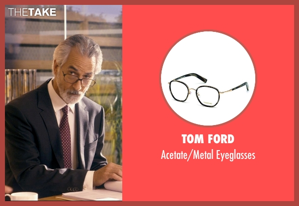 Tom Ford black eyeglasses from The Second Best Exotic Marigold Hotel seen with David Strathairn (Ty Burley)