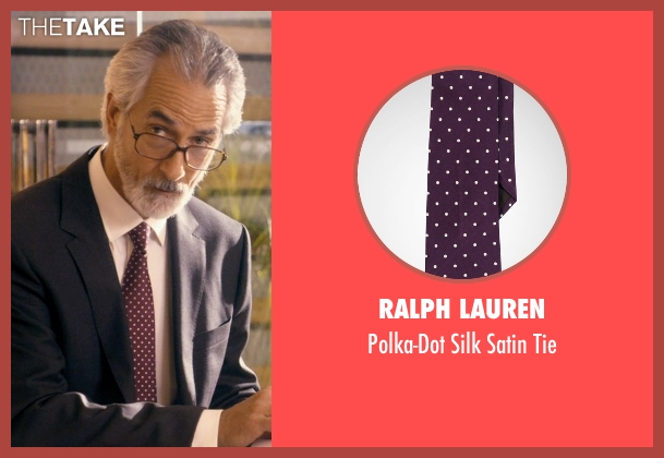 Ralph Lauren purple tie from The Second Best Exotic Marigold Hotel seen with David Strathairn (Ty Burley)