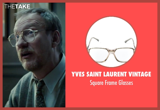 Yves Saint Laurent Vintage white glasses from Regression seen with David Thewlis (Professor Kenneth Raines)