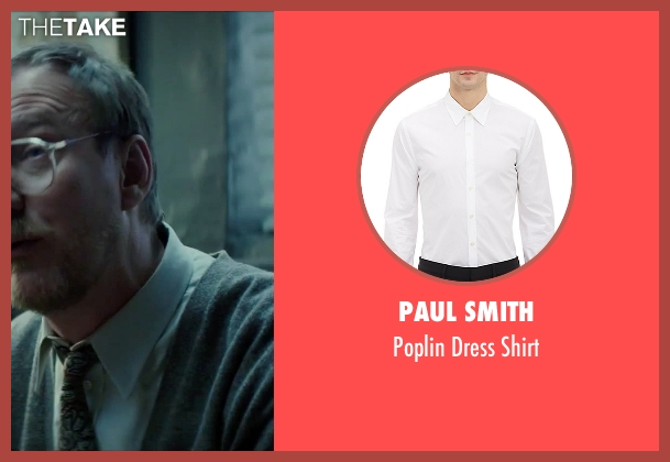 Paul Smith white shirt from Regression seen with David Thewlis (Professor Kenneth Raines)