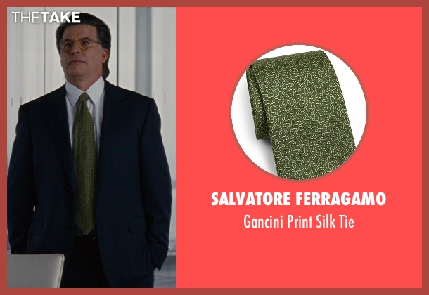 Salvatore Ferragamo green tie from The Other Woman seen with David Thornton (Nick)