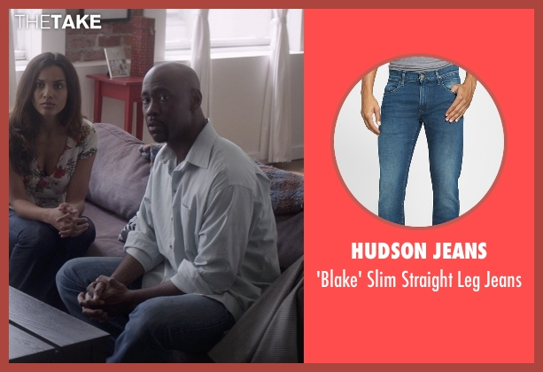 Hudson Jeans blue jeans from That Awkward Moment seen with D.B. Woodside (Harold)