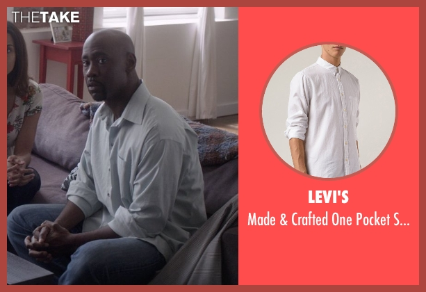 Levi's white shirt from That Awkward Moment seen with D.B. Woodside (Harold)