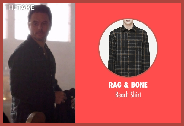 Rag & Bone black shirt from Nashville seen with Deacon Claybourne  (Charles Esten)