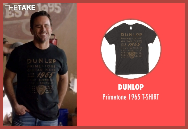 Dunlop black t-shirt from Nashville seen with Deacon Claybourne  (Charles Esten)