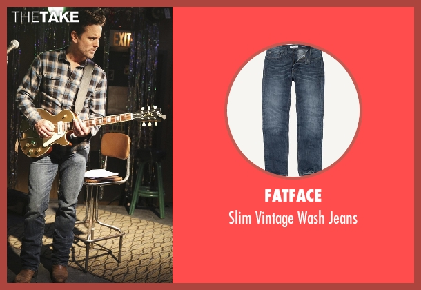 Fatface blue jeans from Nashville seen with Deacon Claybourne  (Charles Esten)