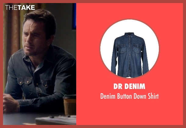 Dr Denim blue shirt from Nashville seen with Deacon Claybourne  (Charles Esten)