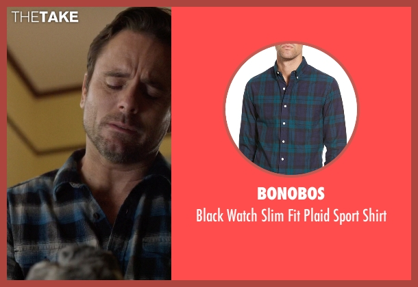 Bonobos blue shirt from Nashville seen with Deacon Claybourne  (Charles Esten)