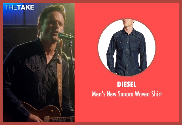 Diesel blue shirt from Nashville seen with Deacon Claybourne  (Charles Esten)
