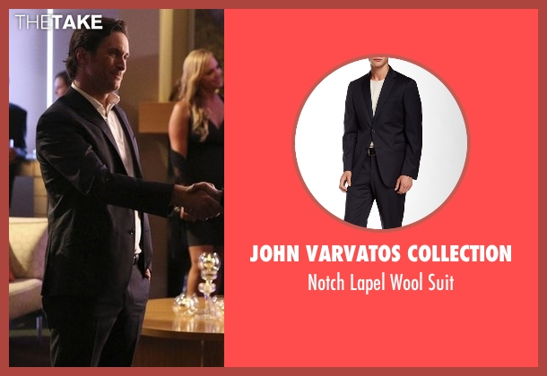 John Varvatos Collection blue suit from Nashville seen with Deacon Claybourne  (Charles Esten)