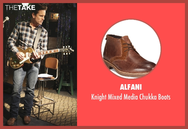 Alfani brown boots from Nashville seen with Deacon Claybourne  (Charles Esten)