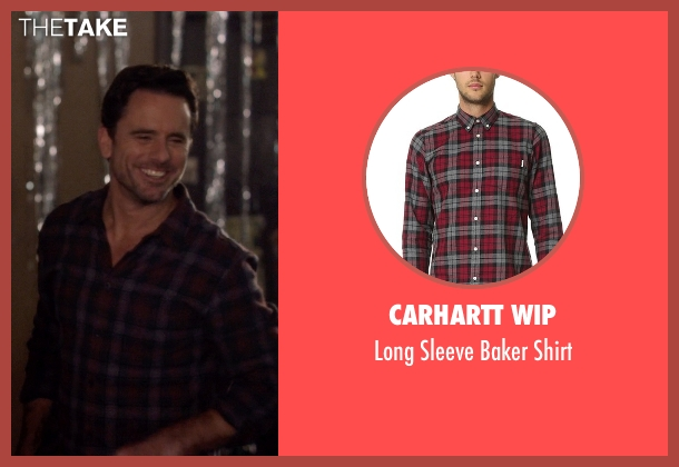 Carhartt Wip red shirt from Nashville seen with Deacon Claybourne  (Charles Esten)