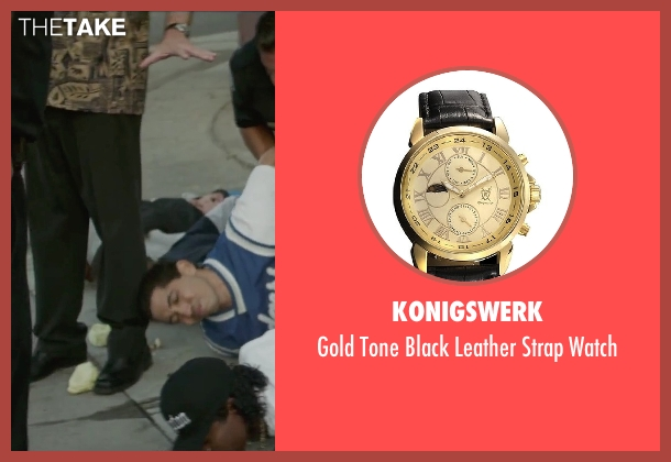 Konigswerk gold watch from Straight Outta Compton seen with Dean Cameron (Record Executive)