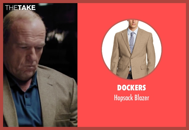 Dockers brown blazer from Secret in Their Eyes seen with Dean Norris (Bumpy)