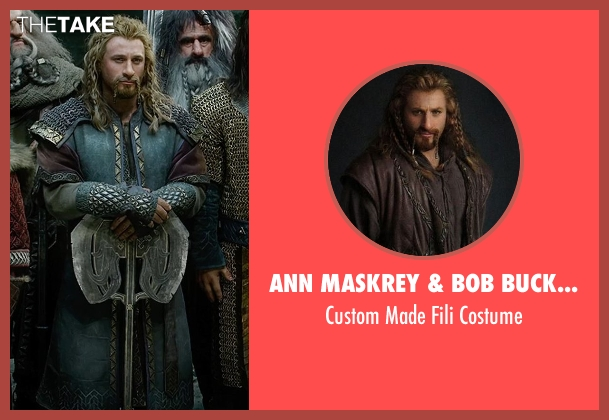 Ann Maskrey & Bob Buck (Costume Designer) costume from The Hobbit: The Battle of The Five Armies seen with Dean O'Gorman (Fili)