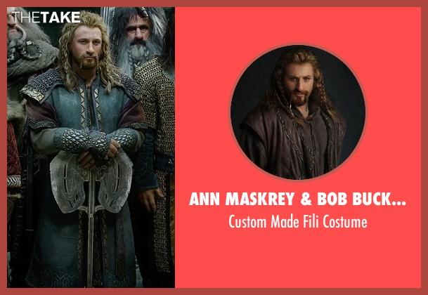 Ann Maskrey & Bob Buck (Costume Designer) costume from The Hobbit: The Battle of The Five Armies seen with Dean O'Gorman (Fili)