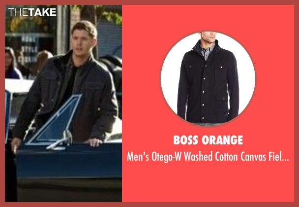 Boss Orange  black jacket from Supernatural seen with Dean Winchester (Jensen Ackles)