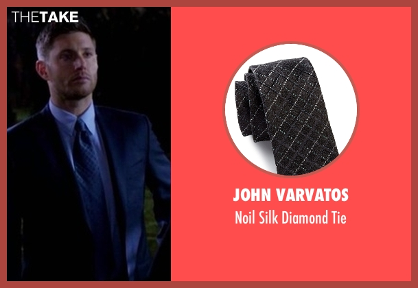 John Varvatos  black tie from Supernatural seen with Dean Winchester (Jensen Ackles)