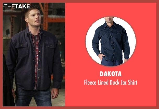 Dakota blue shirt from Supernatural seen with Dean Winchester (Jensen Ackles)