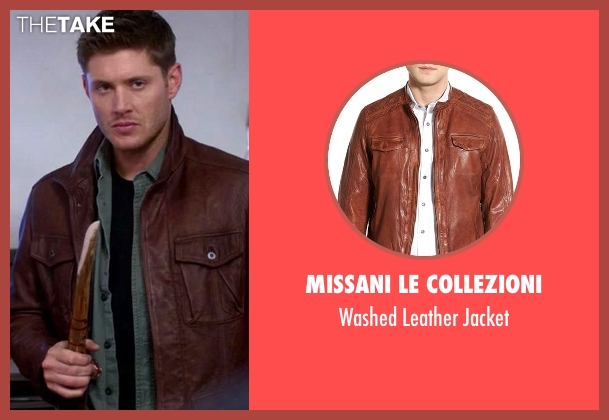 Missani Le Collezioni brown jacket from Supernatural seen with Dean Winchester (Jensen Ackles)