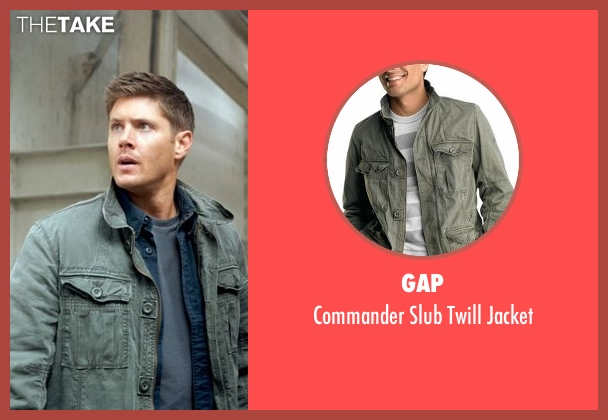 Gap gray jacket from Supernatural seen with Dean Winchester (Jensen Ackles)