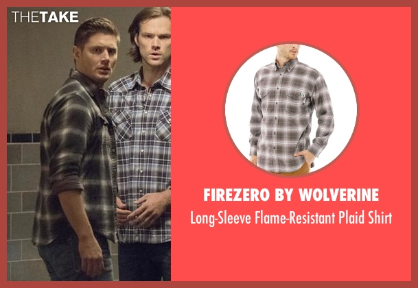 FireZero By Wolverine gray shirt from Supernatural seen with Dean Winchester (Jensen Ackles)