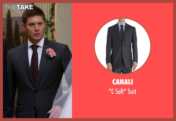Canali gray suit from Supernatural seen with Dean Winchester (Jensen Ackles)