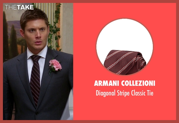 Armani Collezioni red tie from Supernatural seen with Dean Winchester (Jensen Ackles)