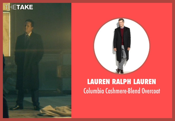 Lauren Ralph Lauren black overcoat from John Wick seen with Dean Winters (Avi)
