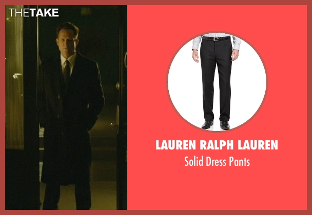 Lauren Ralph Lauren black pants from John Wick seen with Dean Winters (Avi)