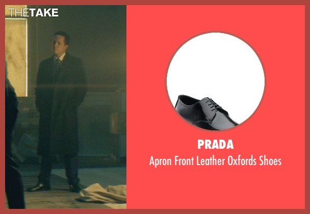 Prada black shoes from John Wick seen with Dean Winters (Avi)