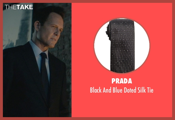 Prada black tie from John Wick seen with Dean Winters (Avi)
