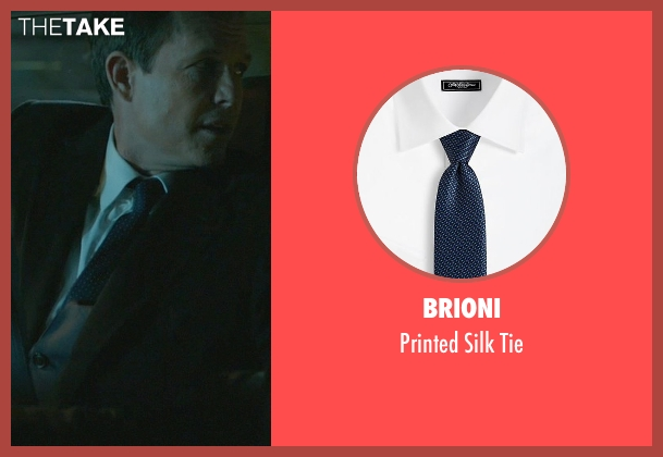 Brioni blue tie from John Wick seen with Dean Winters (Avi)