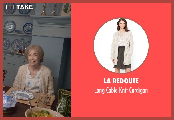 La Redoute beige cardigan from The Visit seen with Deanna Dunagan (Unknown Character)