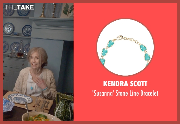 Kendra Scott blue bracelet from The Visit seen with Deanna Dunagan (Unknown Character)