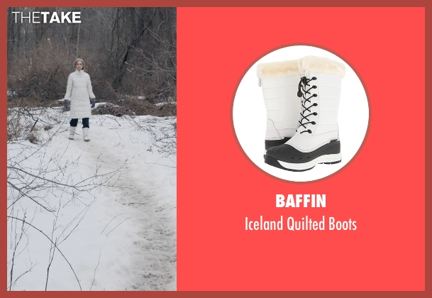 Baffin white boots from The Visit seen with Deanna Dunagan (Unknown Character)